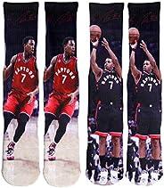 Raptors Lowry #7 Home/Away Basketball Socks Gift Set