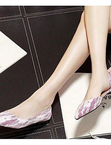 mujer rosa y talón Flats fuchsia eu39 uk6 oficina plano Ballerina cn39 oro zapatos us8 PDX carrera de casual sintético boda OBEEgv
