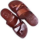 Unisex adults/children Genuine Leather Biblical Sandals / Flip flops (Jesus - Yashua) Shepherd's Field Style II - Holy Land Market Camel Trademark