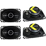 4) Kicker 41DSC464 D-Series 4x6 240 Watt 2-Way 4-Ohm Car Audio Coaxial Speakers