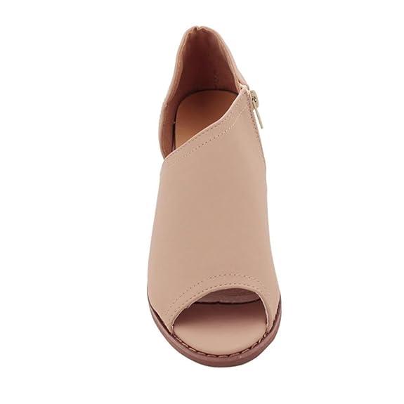 Precio Bajo Para La Venta Venta Caliente De Descuento OHQ Scarpe Tacco Alto Donna Sexy Scarpe da Bocca di Pesce Moda Femminile Solid Single Heel Square scarpe Sandali con Cerniera Laterale MPbNOkw68