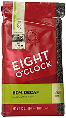 Eight O'Clock 50% Decaf Ground Coffee, 12-Ounce (Pack of 6) by Eight O Clock Coffee Company