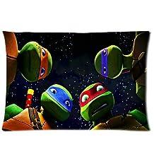Custom Soft-home Decoration TMNT Teenage Mutant Ninja Turtles Rectangle Pillow Case 20x30 Inchs (one side)