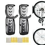 2pcs Bike Storage Wall Mounted Mount Hook Rack Holder Hanger Stand,Vertical Bike Storage