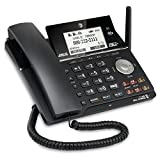 at&T TL16013 DECT 6.0 Expandable 2-Line Corded Phone Featuring Bluetooth Connect to Cell Answering System, Silver/Black