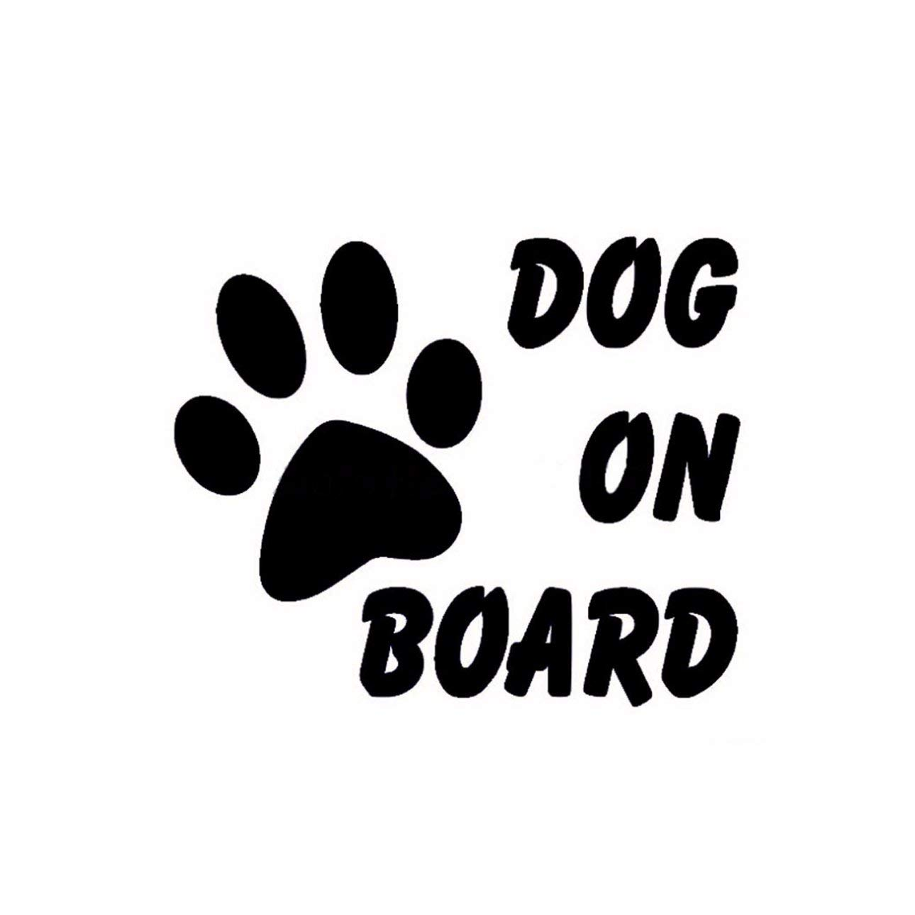 Ballylelly Cute Dog on Board Car Sticker Pet impronta di zampa Puppy adesivi riflettenti