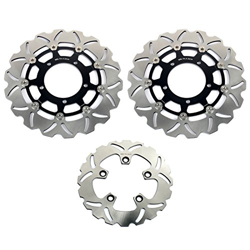 TARAZON Front and Rear Brake Discs Rotors for Suzuki GSXR600 GSXR750 06 07 GSXR 1000 05 08 ()