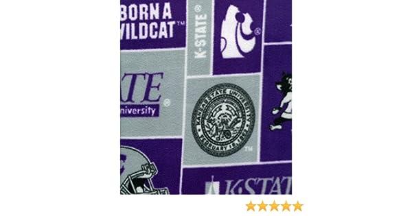 Sykel Enterprises Collegiate Fleece Kansas State University Fabric by The Yard Multi