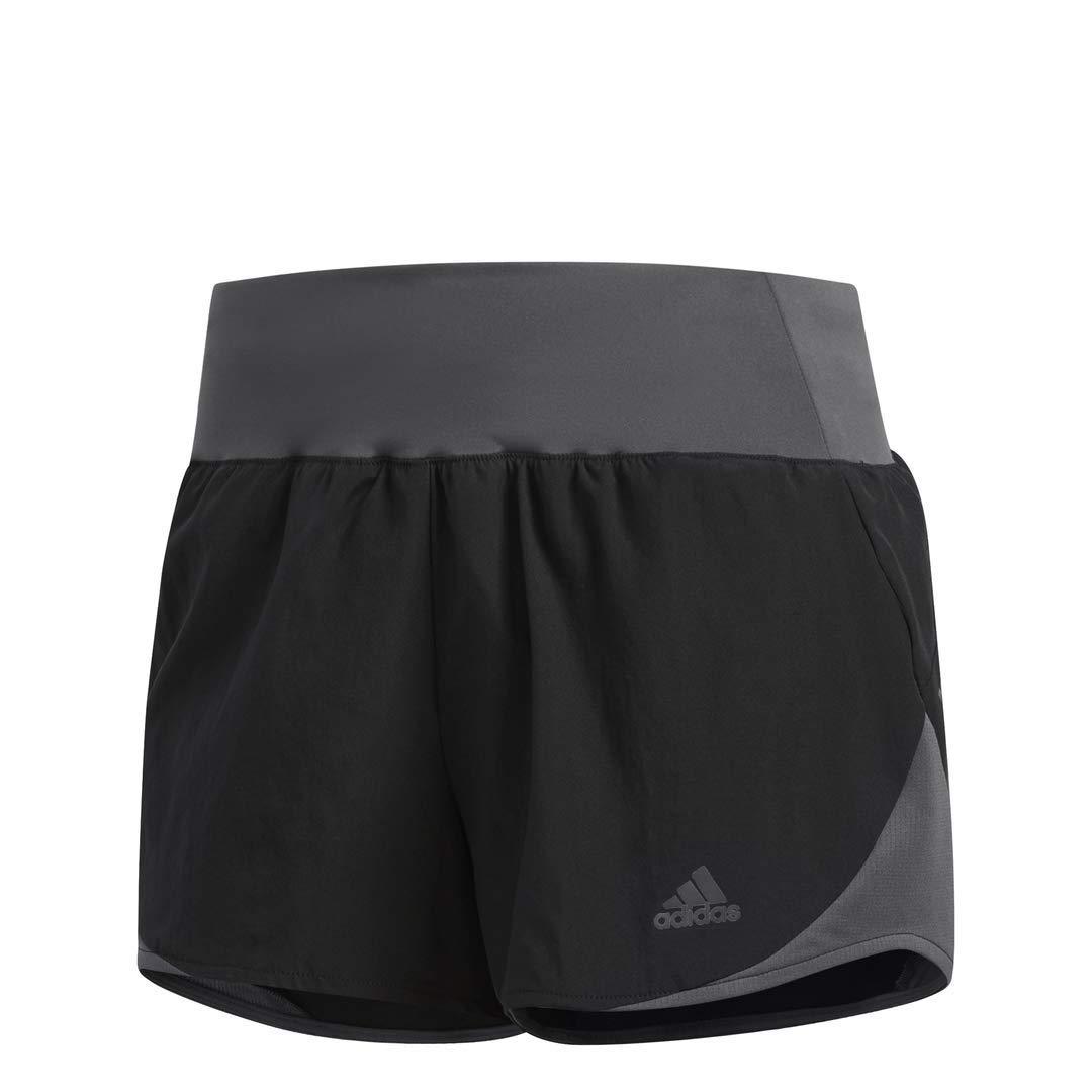 adidas Women's Run It Shorts, Black/Grey, X-Small 3''