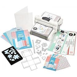 Sizzix Big Shot Plus Starter Kit (White & Gray) by Ellison (US Version), 15-3/4 x 11-3/4 x 7-1/2-Inch