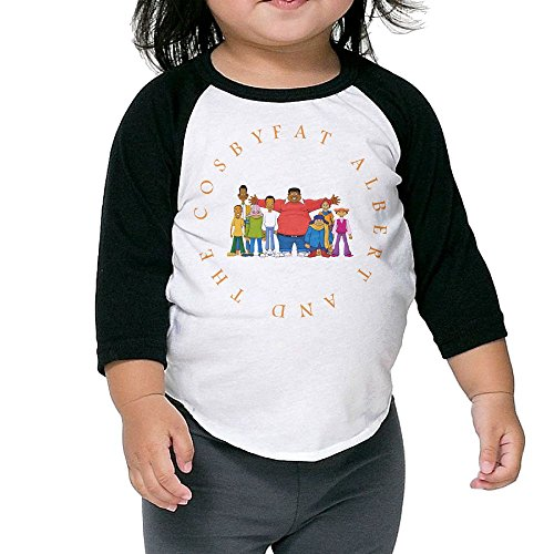Grace Little Fat Albert And The Cosby Kids Funny Boys & Girls Toddler 100% Cotton 3/4 Sleeve Raglan Tee Unisex Black]()