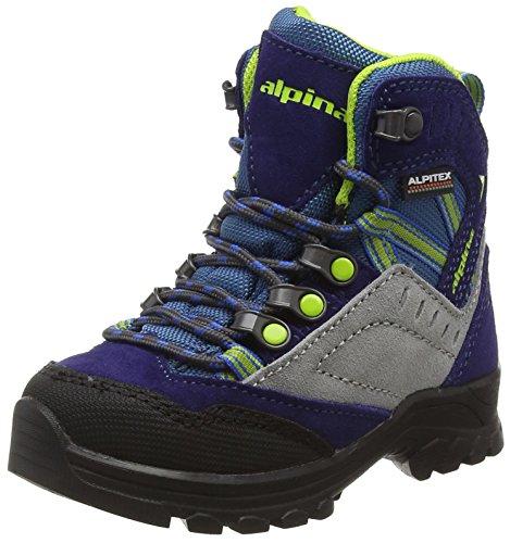 ALPINA SANDY unisex-bambino TREK King stivali, escursioni stivali, Berg scarpe, colore blu, taglia 31 (12,5)