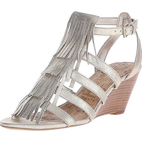 Sam Edelman Women's Sandra Jute Dreamy Metallic Leather Sandal 10 M