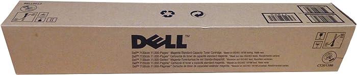 Original Dell 330-6143 Magenta Toner Cartridge (Y7NPH) for 7130cdn Color Printer