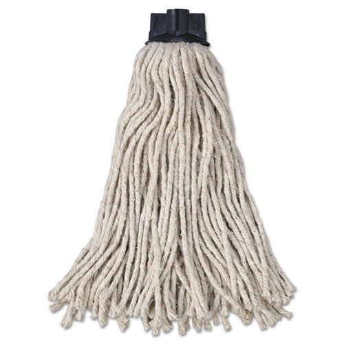 Rubbermaid Commercial Replacement Mop Head For Mop/Handle Combo, Cotton, White - Includes 12 per case. by Rubbermaid Commercial
