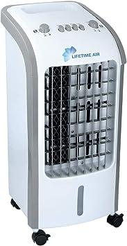Bakaji - Climatizador evaporativo, humidificador, ventilador de aire, portátil, agua y hielo, potencia de 80 W, marca Master, tamaño de 30 x 27,5 x 60 cm: Amazon.es ...