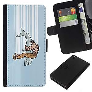 All Phone Most Case / Oferta Especial Cáscara Funda de cuero Monedero Cubierta de proteccion Caso / Wallet Case for HTC DESIRE 816 // Shark Jaw Fighter