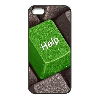 Goma duradera casos iPhone 5, 5S celular negro chalana teclado verde gris Gvopq protector: Amazon.es: Electrónica