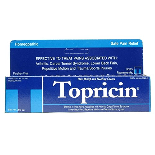 Topricin Pain Relief Cream 2 Ounces each, Pack of 2