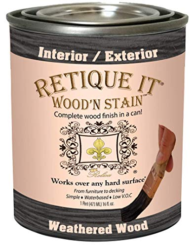 Wood'n Stain - Gel Stain with Liquid Wood (16 oz (Pint), Weathered Wood)