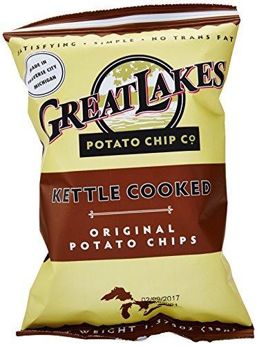 Great Lakes Original Kettle Potato Chips, 1.375 Ounce Pack of 40 by Great Lakes Potato Chips