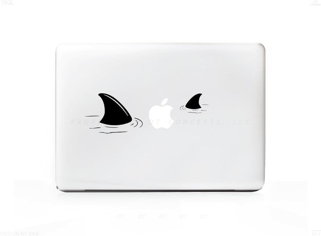 Shark Prey 2 Fins Sticker Decal For MacBook Pro, PC, Laptop, Window, Car, or Wall