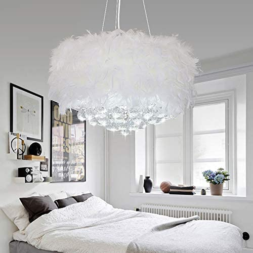 CraftThink Pendant Light Hanging Lamp Rustic Drum Light Fixture