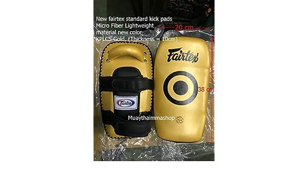 GENUINE FAIRTEX NEW LIGHTWEIGHT MUAYTHAI Standard Curve Kick Pads Training KPLC5