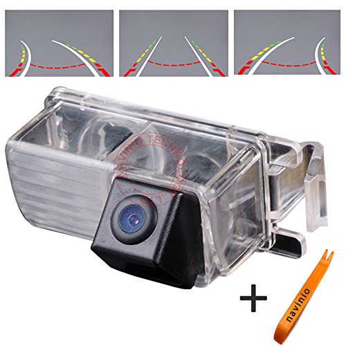Navinio Reversing track camera ruler line with the steering wheel moving rear view backup trajectory for Nissan Tiida Hatchback/ Livina/ Skyline R35 GTR/250GT/ Fairlady 350Z/370Z/ CUBE/ Geniss