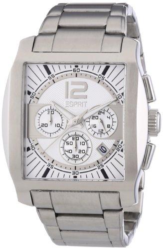Esprit Herren-Armbanduhr Impulse White Chronograph Quarz Edelstahl ES103641002