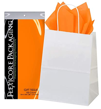 Amazon.com: Flexicore Packaging® - Bolsas de regalo de papel ...