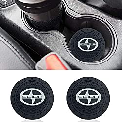 Auto sport 2.75 Inch Diameter Oval Tough Car Logo Vehicle Travel Auto Cup Holder Insert Coaster Can 2 Pcs Pack Fit Scion Accessory