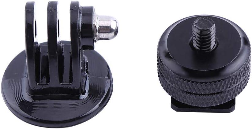 Madezz Black 1//4 Hot Shoe Adapter Long Screw for Hero 2//3//3+//4 Camera Tripod Adapter