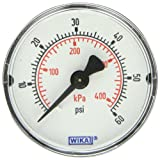 WIKA 9690684 Commercial Pressure Gauge, Dry-Filled, Copper Alloy Wetted Parts, 2