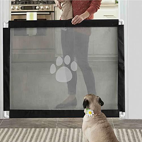 Decdeal Hunde Türschutzgitter Treppenschutzgitter Barrier Sicherheit Netz für Babys, Hunde & Katzen