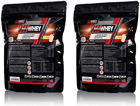 Frey Nutrition Triple Whey 2 x 500g Beutel 2er Pack Vanille
