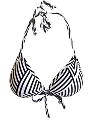 c2e9e2e705 Dollboxx Monochrome - Mega Boost Bikini Top Swimwear - L  Amazon.co.uk   Clothing