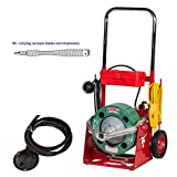 Spartan Tool Drain Cable Model 100 Power Unit with 13/32'' Drum and 13/32'' x 75' Inner Core No. 8 Drain Pipe Cleaning Cable 02812201