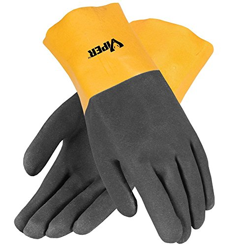 - Galeton 7112 Viper Double Coated PVC Gloves, 12