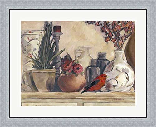Vases & Pots by Marietta Cohen Framed Art Print Wall Picture, Flat Silver Frame, 32 x 26 inches