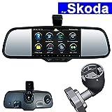 SZSS-CAR Touch Screen Car Rear View Mirror DVR GPS Navi Bluetooth WIFI for Skoda Fabia Octavia Rapid Superb Yeti Android Auto Monitor