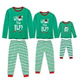 Rnxrbb Holiday Christmas Pajamas Family Matching Pjs Set Xmas Jammies for Couples and Kids Green Cotton,Kid,Youth 9-10