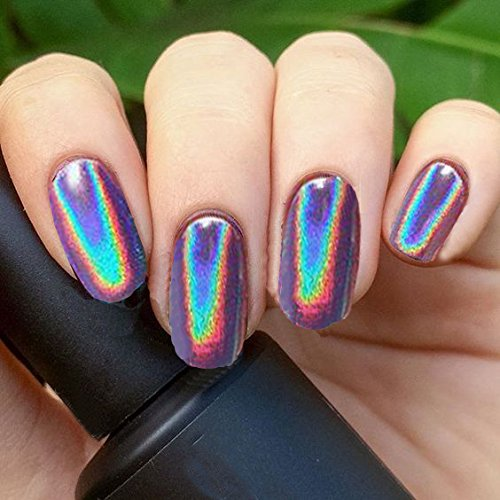 PrettyDiva 1g Holographic Powder Rainbow Unicorn Chrome Nails Powder Manicure Pigment Top Grade by Pretty Diva (Image #7)