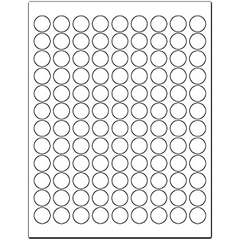 Amazon.com : 3/4 White Round Labels for Laser and Inkjet Printers ...