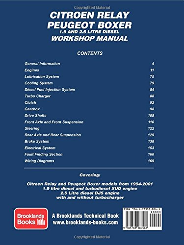 citroen relay peugeot boxer 1 9 and 2 5 diesel workshop manual 1994 rh amazon com peugeot boxer 2007 service manual peugeot boxer 2007 service manual
