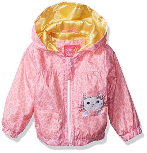 Pink Platinum Baby Girls Cheetah Windbreaker, Pink, 24M