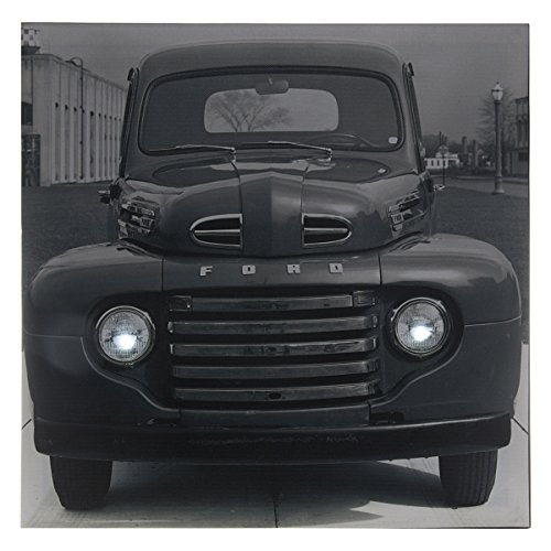 Westland Giftware Lighted Canvas Wall Art, 15 by 15-Inch, Ford F-1 1940's
