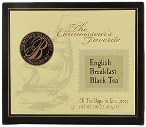 Boston Tea Premium English Breakfast Black Tea Box, 50-Count (Pack of 3)