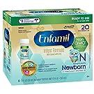 Enfamil Newborn Non-GMO Baby Formula Nursette Bottles, 2 Oz. 6 Count (Pack of 4)