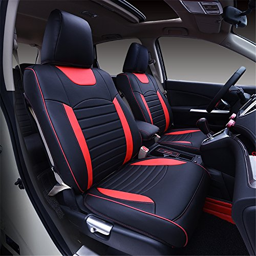 Kust Zd5082w Car Seat Custom Fit Cover Pack Of 8 Pieces Green Artificial Leather Red Black For Installed Size Accessories